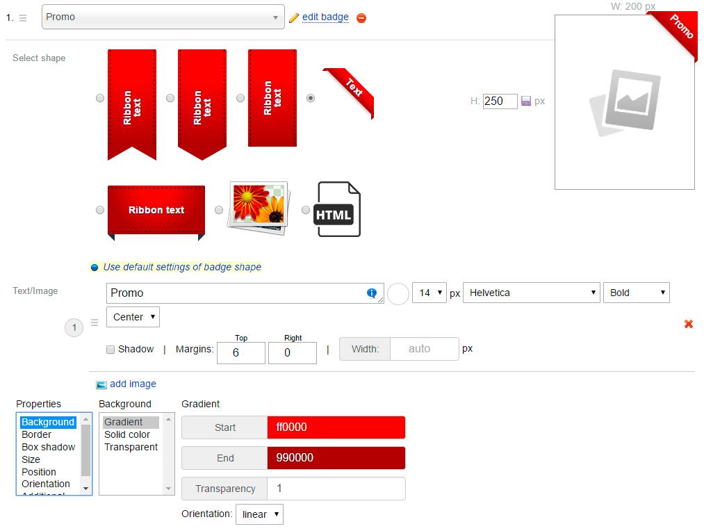 Creating new badges - plugin Badges for Shop-Script