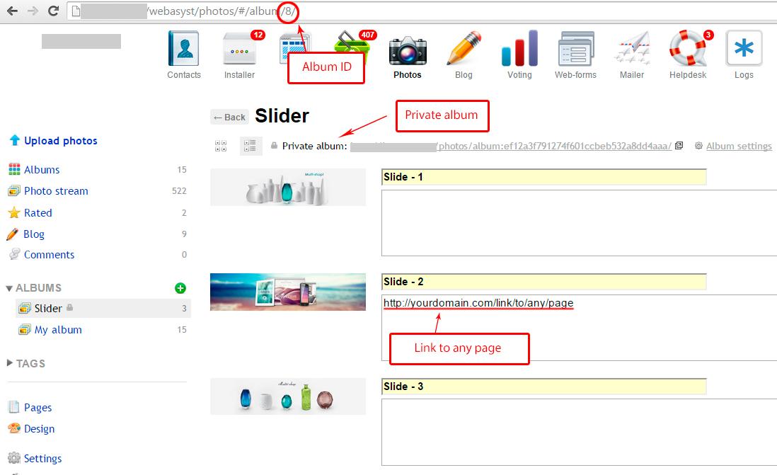 Adding images to slider
