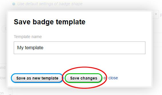Save badge template - plugin Badges for Shop-Script