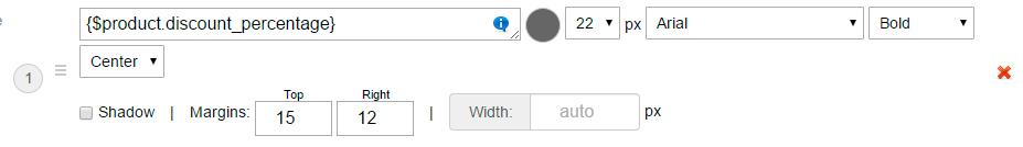 Text settings - plugin Badges for Shop-Script
